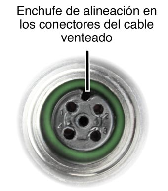 solinst levelvent alignment socket in the vented cable connectors