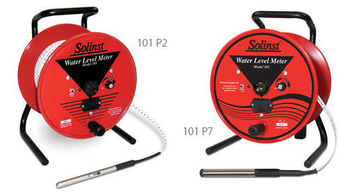 solinst water level meters measure depth of water in wells water wells boreholes depth of water depth of water in wells depth of water in boreholes depth of water in standpipes water level indicators image