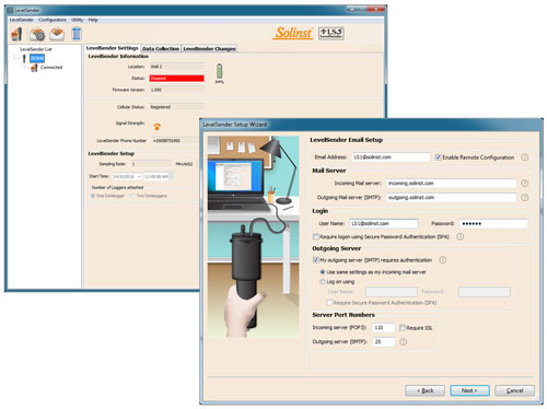 solinst levelsender telemetry system software