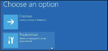 figure 4-8 : dépanner un ordinateur sous windows 8
