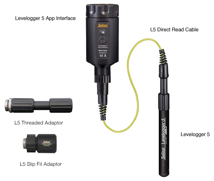 figure 2-3 connecting the levelogger app interface to a direct read cable