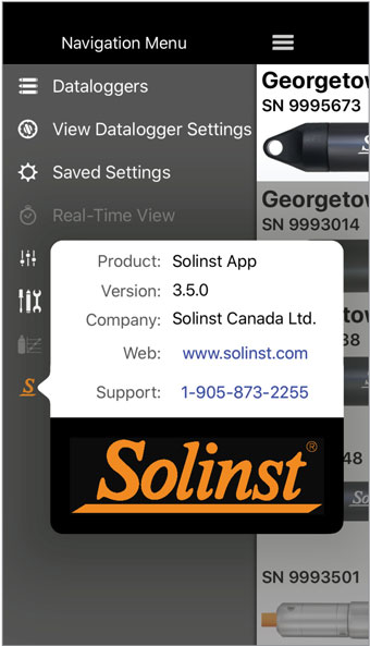 solinst levelogger app information ios