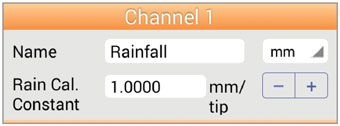 rainfall channel - Android