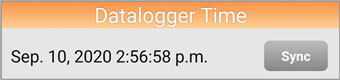 datalogger time - Android