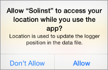 solinst levelogger app access location permission