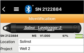 solinst datalogger identification inside solinst levelogger app ios