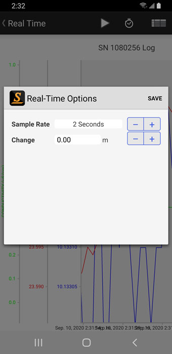 edit real-time parameters - Android