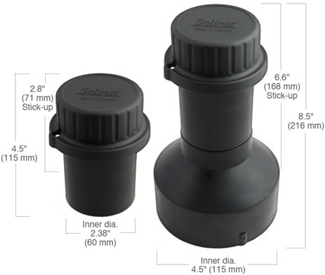 solinst levelogger levelogger locking well caps levelogger caps levelogger wellhead levelogger well head pressure transducer well caps datalogger well caps 2 inch well caps 4 inch well caps 2 inch diameter well caps 4 inch diameter well caps image