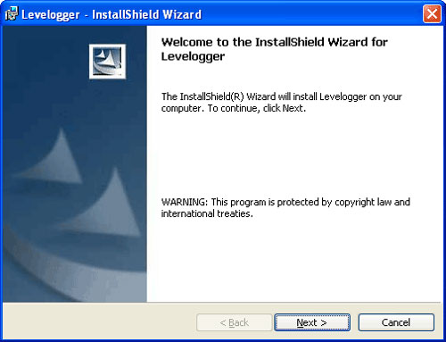 solinst levelogger software  installation wizard found new hardware screen