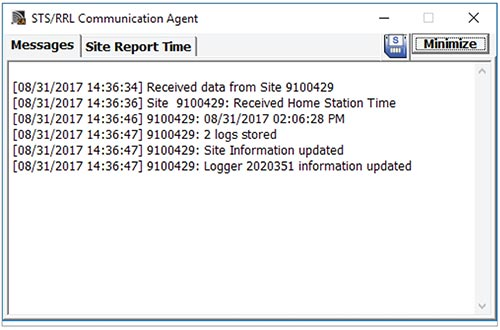 solinst sts edge communication agent messages window