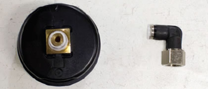 wrap teflon tape around the threads of the new pressure gauge of electronic pump control unit