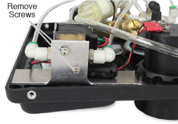 remove screws from the solenoid valve