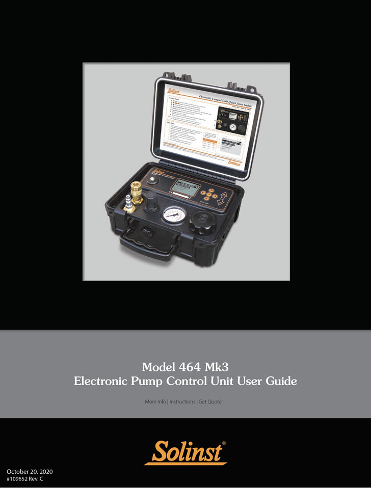 solinst 464 electronic pump control unit 464 electronic pump control unit user guide pneumatic pump control unit 464 user guide image