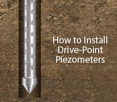how to install solinst drive point piezometers
