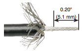 solinst 102 coaxial cable with inner insulation removed