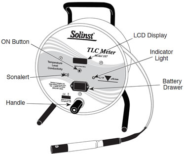 solinst 107 tlc meter front view