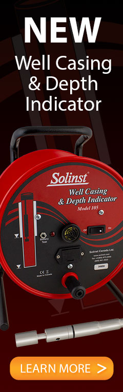 new solinst model 105 well casing & depth indicator