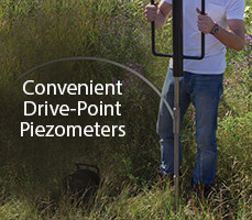 convenient drive-point piezometers